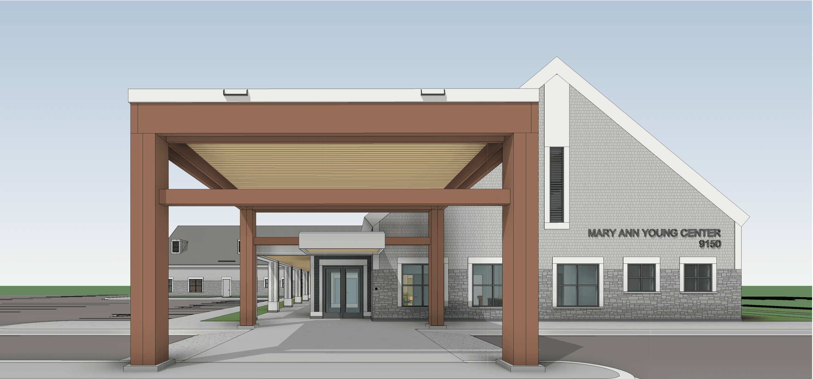 Mary Ann Young Entrance Rendering